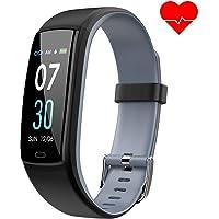 Dwfit Fitnessarmband met hartslagmeter, waterdichte bloeddrukmeter, fitnesstracker, activiteitstracker, hartslagmeter, stappenteller, horloge, smartwatch met slaapmonitor, voor iOS en Android