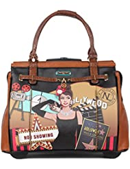 Nicole Lee Womens Fashion Hollywood Rolling Overnighter, Carry on with Laptop Compartment Travel Tote, Hollywood...