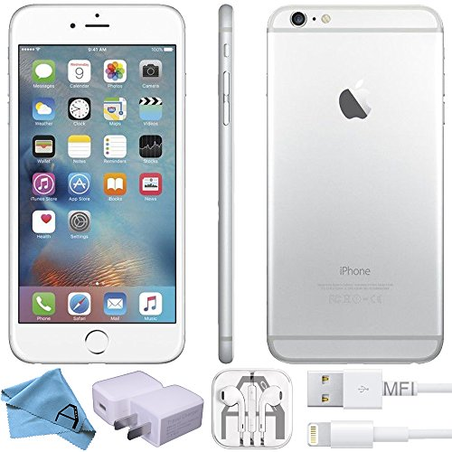 Apple iPhone 6 Factory Unlocked GSM 4G LTE Smartphone (Certified Refurbished) (Silver, 32 GB)