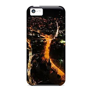 New LatonyaSBlack Super Strong City At Night Aerial View City Tpu Case Cover For Iphone 5c