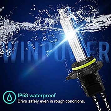 Win Power 55W H13 HID Headlight Bulb 8000K Cool White Single Beam Replacement Light Bulb