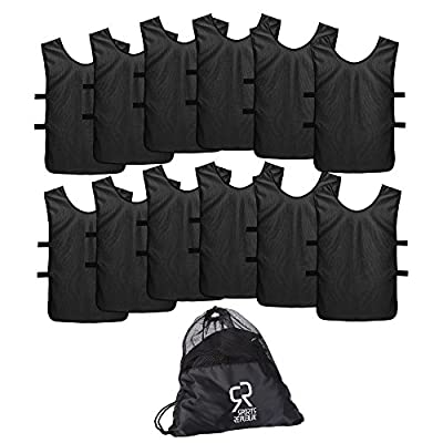 Sports Jersey Pinnies for Kids, Youth and Adults (12-Pack) - Perfect as Basketball Practice Jersey, Football Jersey or Pennies for Soccer - Last Longer and Look Cooler - Scrimmage Vests Men and Women