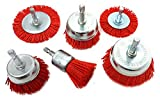 Nylon Abrasive Wire Brush Set for Drill - Set of 6