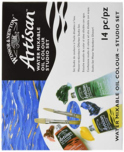 (Winsor & Newton Artisan Water Mixable Oil Colour Studio Set, Ten 37ml Tubes)