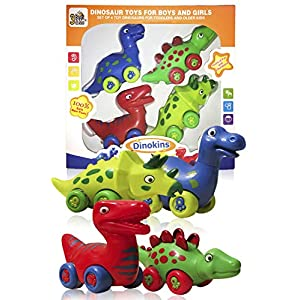 51HlXc8pSuL. SS300  - 3 Bees & Me Dinosaur Toys for Boys and Girls - Set of 4 Toy Dinosaurs for Kids