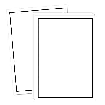 Trauer Papiere by GUSTAV NEUSER Briefpapier Trauer 297 x 210 mm 100x Trauerpapier DIN A4 Motiv: Trauerrand schwarz 90 g//m/² Kondolenz Papier