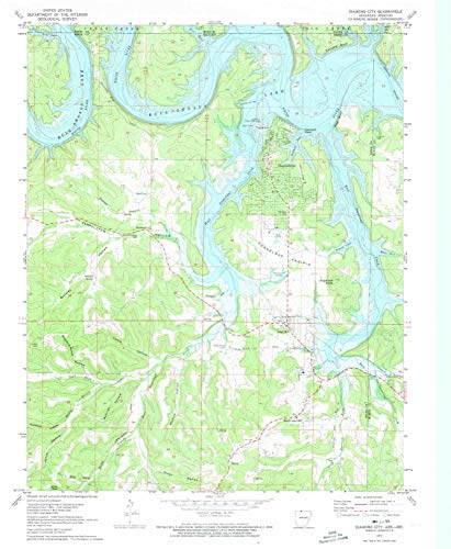 YellowMaps Diamond City AR topo map, 1:24000 Scale, 7.5 X 7.5 Minute, Historical, 1972, Updated 1973, 26.85 x 22.06 in - Paper