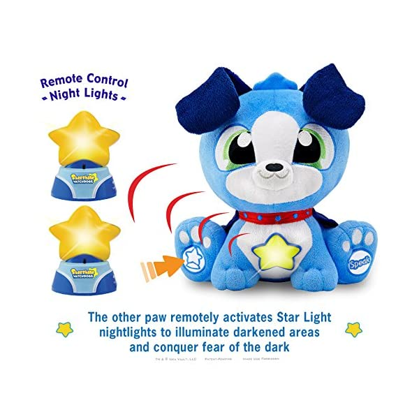 Watchdogs Boys Bedtime Toy Stuffed Animal Soothing Talking Dog, RC Kids LED Night-Lights, Calming Story Book BONUS Coloring Pages & 3rd FREE Star ...