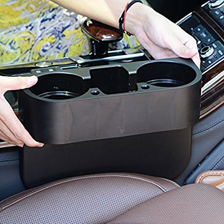 ROSY007 Drink Holder coffee Console Side Pocket with pen hole,Auto Front Seat Organizer Car Console and Seat Gap Cup/Mobile Phone Holder Storage Pocket Box Cage coffe catcher for (Car Cup Holder)