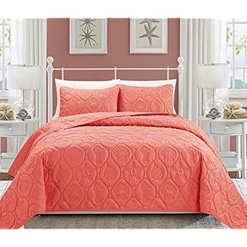 Amazon Com Laura Ashley 2 Piece Cotton Quilt Set Twin
