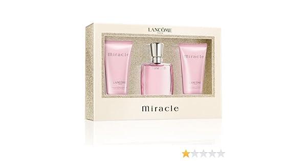 Lancome Miracle Set de Regalo 30ml EDP + 50ml Crema de cuerpo + 50ml Gel de ducha: Amazon.es: Salud y cuidado personal