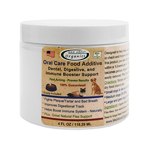 Mad About Organics All Natural Dog & Cat Oral Care Food Additive Dental Plaque Remover 4oz (Stores In Eugene Or)