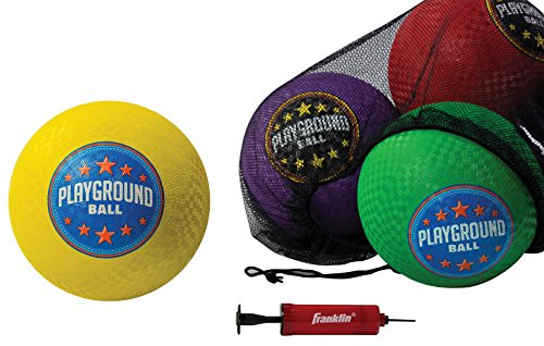 Franklin Sports Six Pack Playground Balls with Mesh Carry Bag and Pump - 8.5 inch Diameter by Franklin Sports (Image #8)