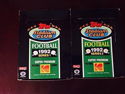 Stadium Football Club (1992 Stadium Club Football WAX BOX 36 Packs 1 box EACH SERIES 1 and 2)