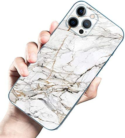 Clear Case Compatible with iPhone 12 pro max Silicone Protective Shockproof with Soft TPU White Marble Case for Women Girl