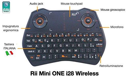 100 opinioni per Rii Mini i28 ONE Wireless (layout ITALIANO)- Mini tastiera retroilluminata con