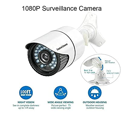 Outdoor Indoor Surveillance Home Video Security Camera System with Night Vison Weatherproof IR CUT, Motion Alert, Smartphone, PC Easy Remote Access
