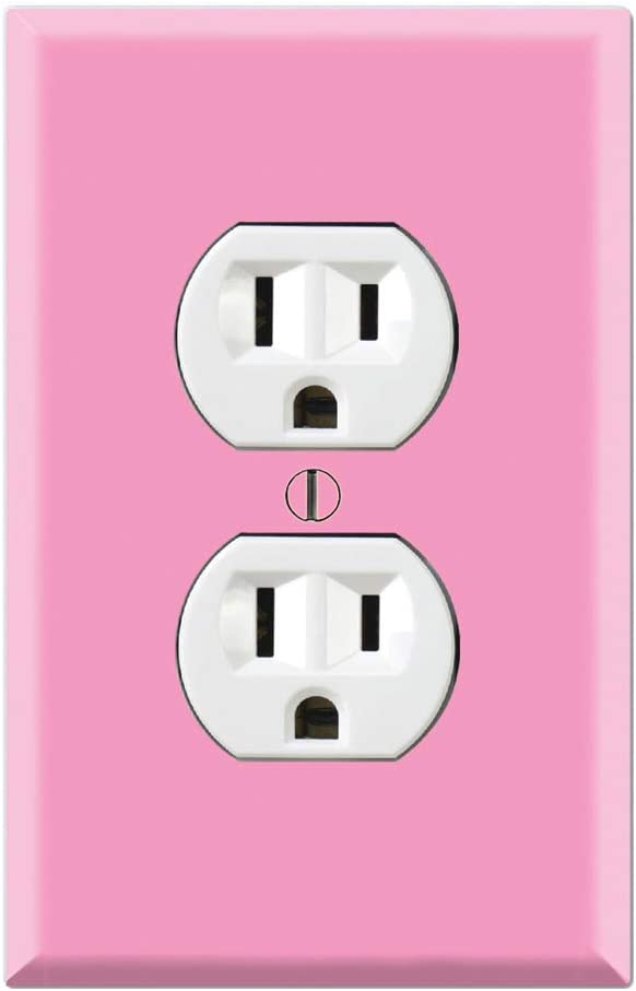 Graphics Wallplates - Simply Pink - Duplex Outlet Wall Plate Cover