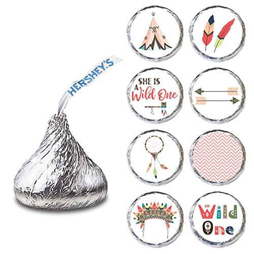 - She is a Wild One Label for HERSHEY'S KISSES® chocolates - Envelope Seal Candy Stickers - Set of 240