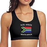 JMFASHION South Africa Flag - Southafrica Women's Racerback Sport Bra for Yoga Running Gym Workout Fitness