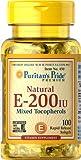 Puritan's Pride Vitamin E-200 iu Mixed Tocopherols Natural-100 Softgels