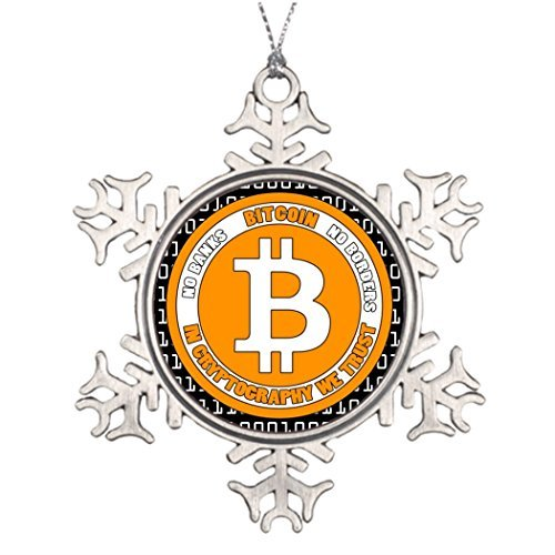 (Christmas Snowflake Ornaments Personalised Christmas Tree Decoration Bitcoin - M2 Personalized Snowflake Ornament)