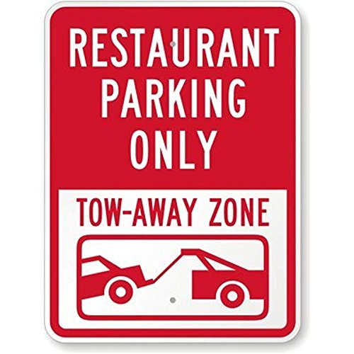 restaurant parking only signs - 1