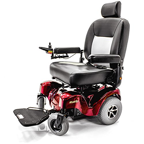 ATLANTIS Heavy Duty Bariatric Electric Power Wheelchair Merits P710 + Challenger Mobility Vinyl (Best Merit Wheelchairs)