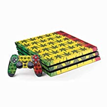 Rasta PS4 Pro Bundle Skin - Marijuana Rasta Pattern | Skinit Lifestyle Skin