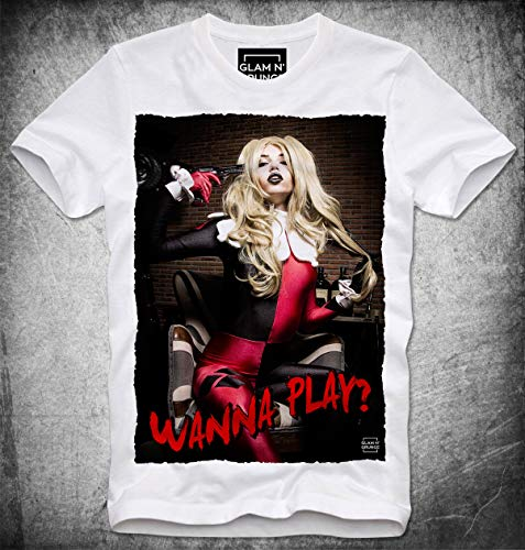 T Shirt Harley Quinn Daddys Lil Monster Cosplay Suicide Squat Wanna Play Hot Sexy Girl Pin Up