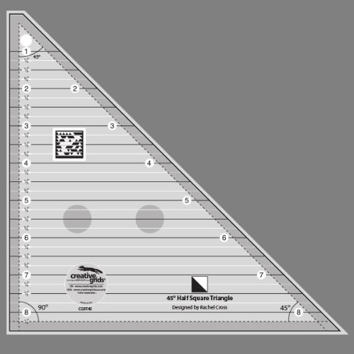 Creative Grids 45 Degree Half-Square Triangle Quilting Ruler Template CGRT45 by Creative Grids
