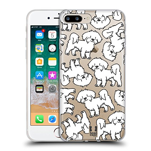 Head Case Designs Maltese Dog Breed Patterns 4 Soft Gel Case for iPhone 7 Plus/iPhone 8 Plus