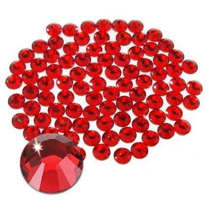 (Jollin Hot Fix Flatback Rhinestones Glass Diamantes Gems(20ss 576pcs,Red))