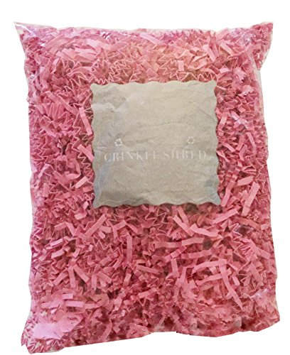 The Gift Wrap Company Recycled Paper Crinkle Shred, Bubble Gum