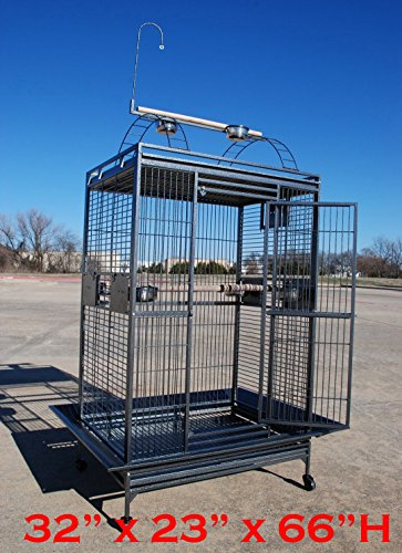 """Extra Large 32""""W x 23""""D x 66""""H Parrot Cage Macaw Cockatoo..."""