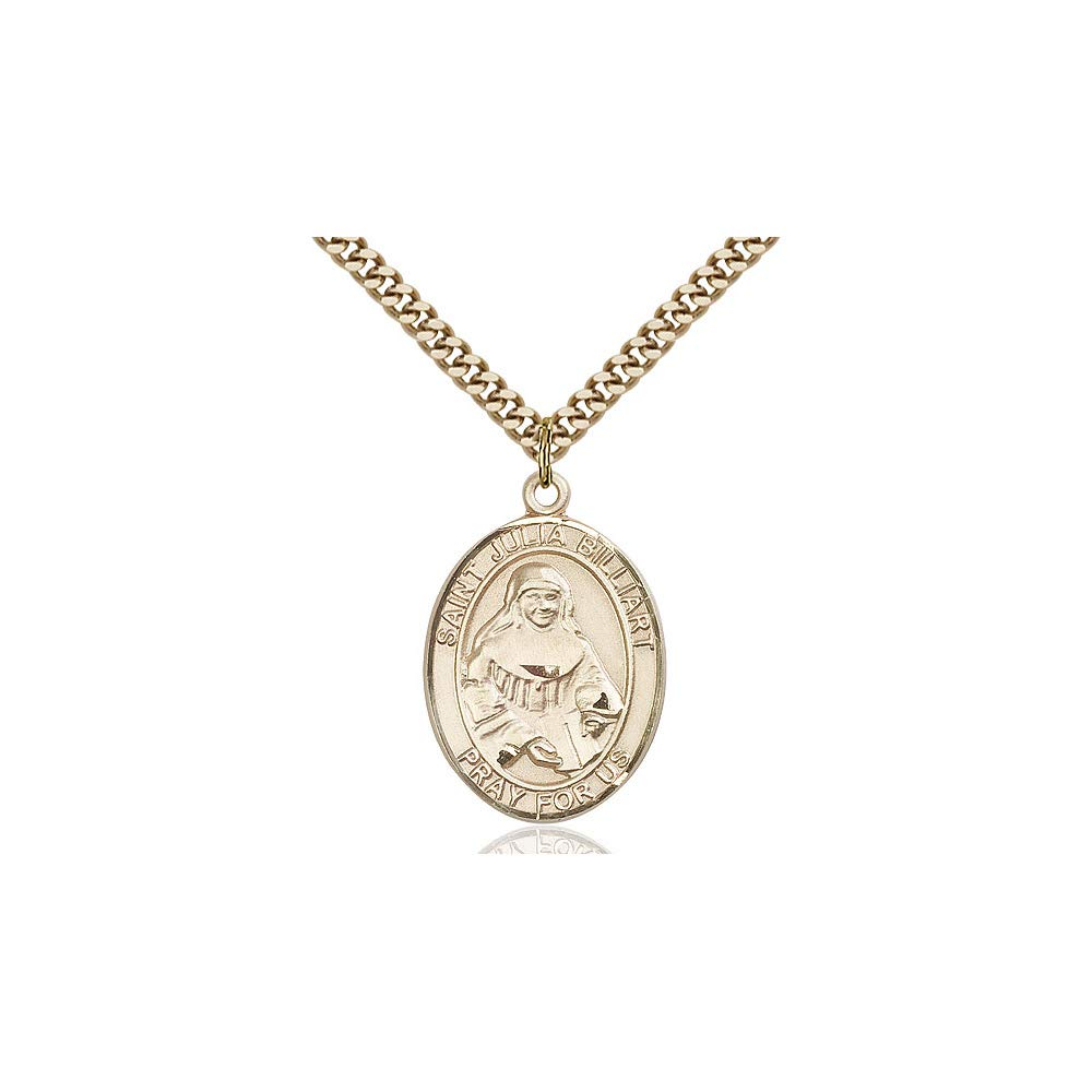 DiamondJewelryNY 14kt Gold Filled St Julia Billiart Pendant