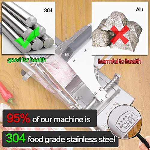 Manual frozen meat ctter slicer machine, 304 food stainless steel and German blade, cut vegetable kitchen products electric cheese bacon ham by GOSSOO (Image #1)