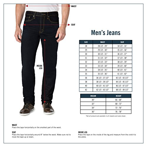 Signature by Levi Strauss & Co. Gold Label Men's Regular Taper Fit Jeans, Falcon, 34W x 30L