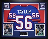Lawrence Taylor Autographed Blue Giants Jersey - Beautifully Matted and Framed - Hand Signed By Lawrence Taylor and Certified Authentic by JSA COA - Includes Certificate of Authenticity