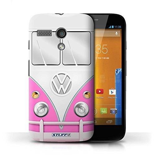 STUFF4 Phone Case / Cover for Motorola MOTO G (2013) / Pink Design / VW Camper Van Collection