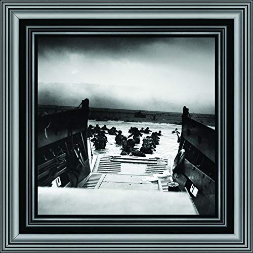D-Day Landing, Military Gift, Historical Picture Frame, 10x10 8526B