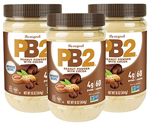 Bell Plantation Chocolate Powdered Peanut Butter 16 oz - 3 Pack