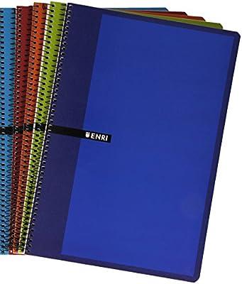 Enri 100430069 - Cuaderno de líneas de 80 hojas, tapas duras ...