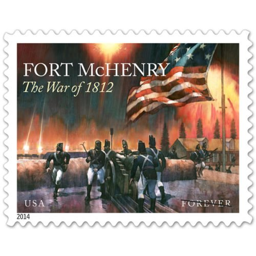 The War of 1812: Fort McHenry Sheet of 20 US Forever Stamps Scott 4921 By USPS (Postal Us Cover)