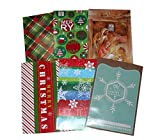 """6-pk Decorated Christmas Gift Boxes w/ Tissue Paper, Sized 14 1/4"""" x 9 7/16"""" x 1 7/8"""", Perfect for Men's Shirt"""