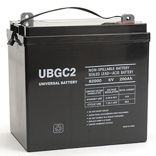 UBGC2 Sealed AGM Deep Cycle 6V 200AH Battery Golf Cart RV Boat Camper Solar by Universal Power Group