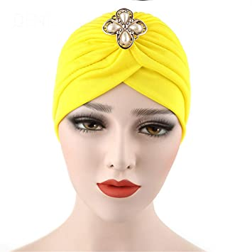 Turban Women Hat India Cap Muslim Hats Hairnet Chemo Cap Flower Bonnet  Beanie For Women Headwear dc7f91e1c8e