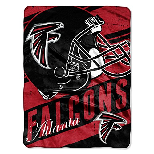 The Northwest Company Officially Licensed NFL Atlanta Falcons Deep Slant Micro Raschel Throw Blanket, 46