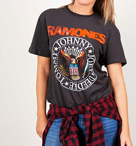 Shirt Ramones Seal Vintage The T Charcoal From Amplified 6wTYpx