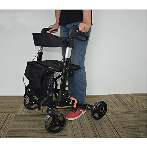 Drive Four Wheel Walker Rollator,Adjustable Handle Height Includes Basket with Lockable Brakes Seniors Auxiliary Walking Safety Walker by YL WALKER (Image #3)